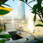 terraza vistas bilbao hotel domine