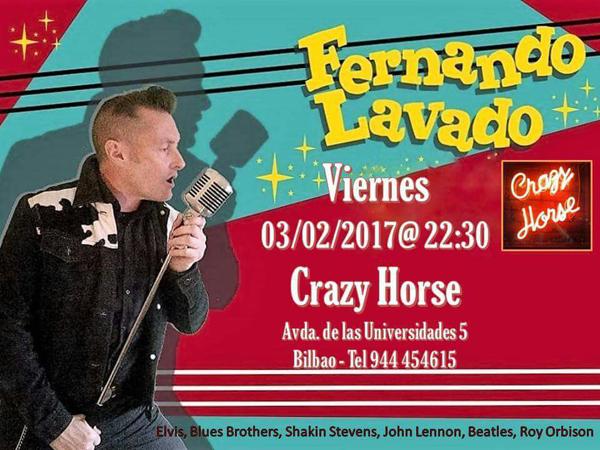 Concierto de Fernando Lavado Crazy Horse Bilbao