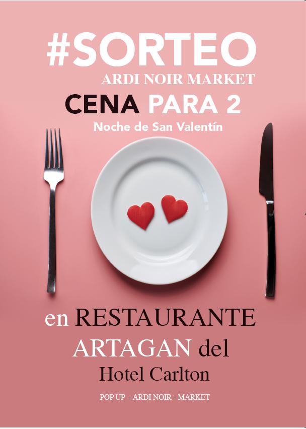 sorteo cena 2 san valentin restaurante artagan bilbao