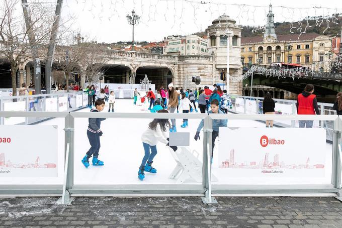pista hielo ecologica navidad bilbao