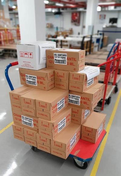 material sanitario proteccion donacion china