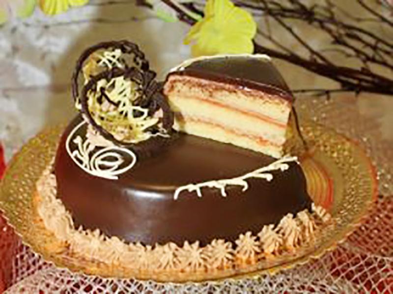 Tarta de chocolate de pasteleria Arrese en Bilbao