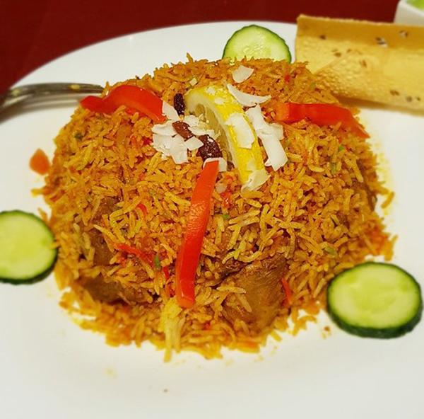 Plato de arroz de India Town