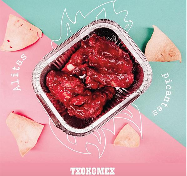 Txokomex y sus alitas al estilo mexicano