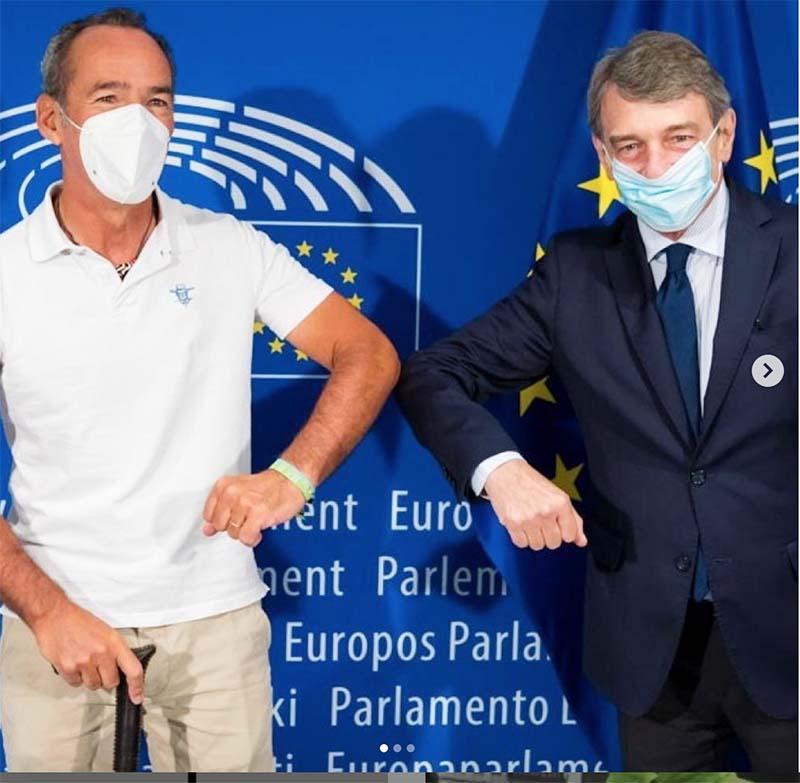 Jaime Lafota de ELA llega a Bruselas