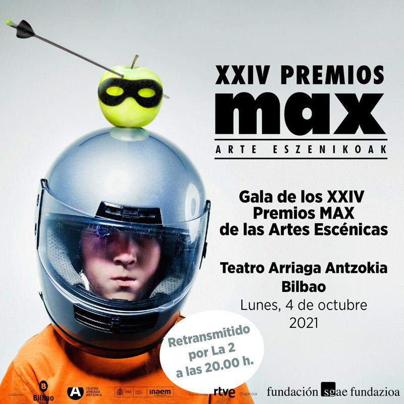 Chico con casco en premios Max Bilbao